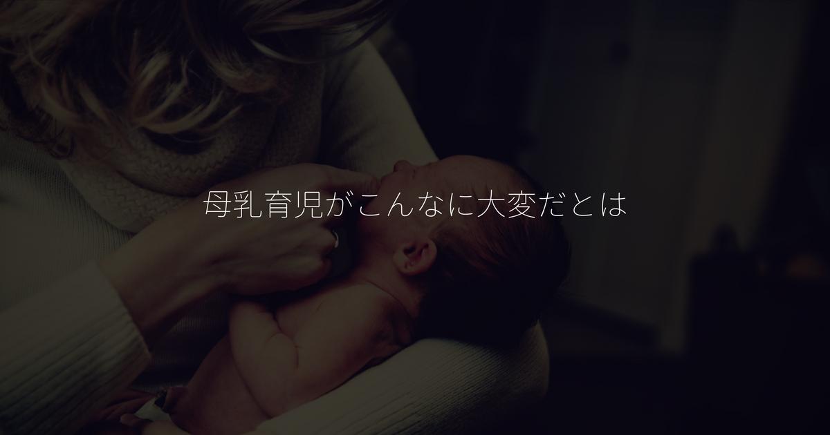 母乳育児の大変さ